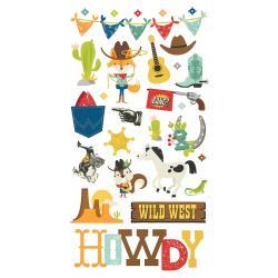 Howdy-Chipboard Sticker