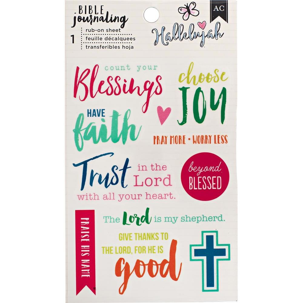 BIBLE JOURNALING - Rub Ons Color