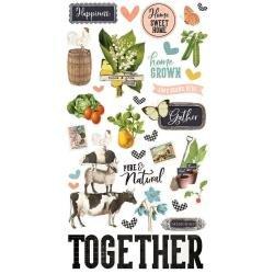 Farmhouse Garden - Simple Vintage Chipboard Stickers