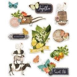 Farmhouse Garden - Simple Vintage Garden Layered Stickers