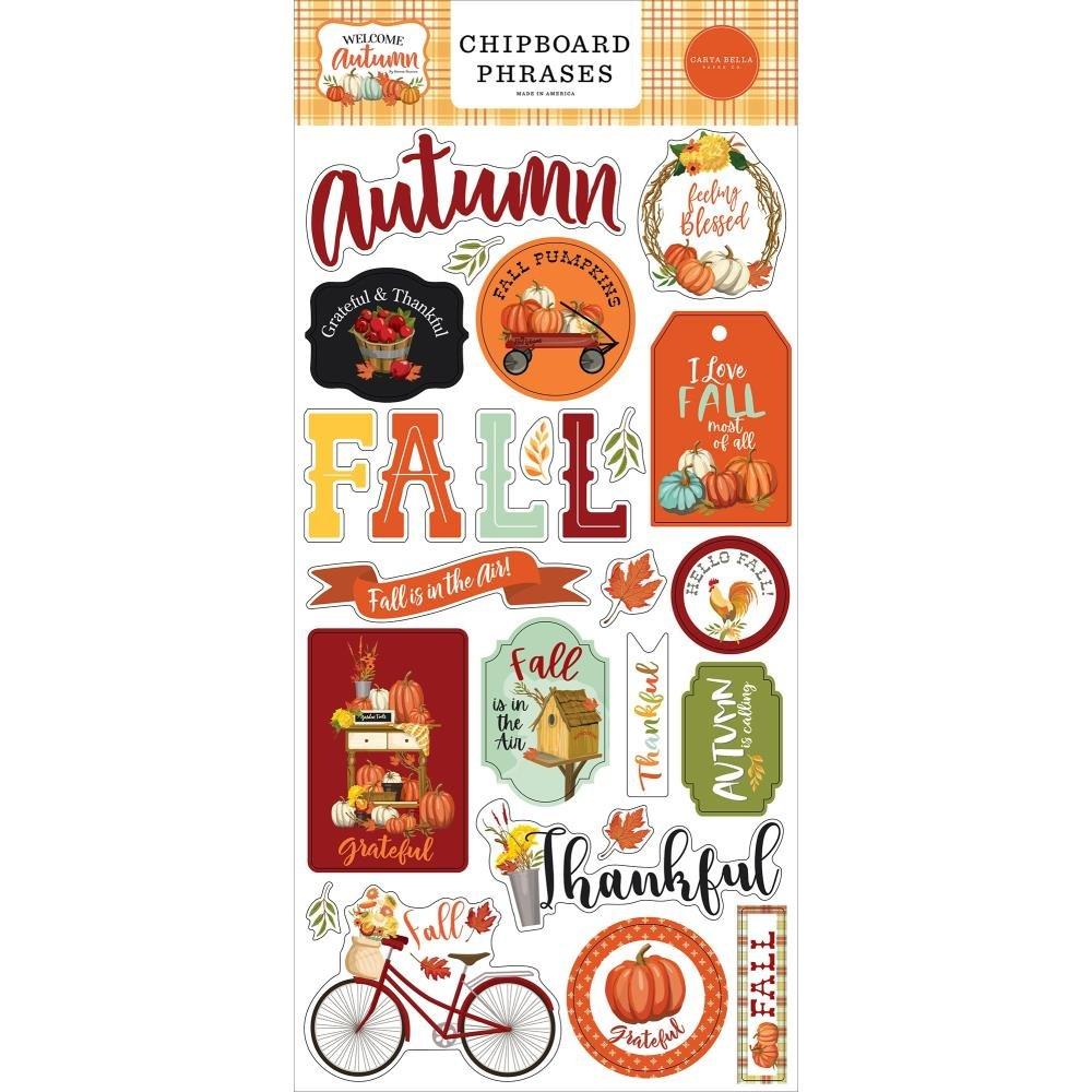 Carta Bella Welcome Autumn Chipboard Phrases