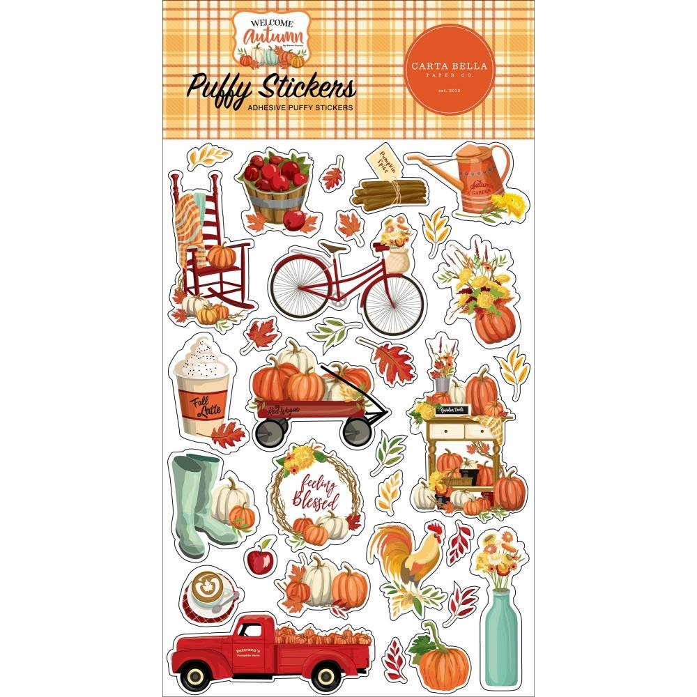 Carta Bella Welcome Autumn Puffy Stickers