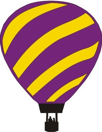 DIE CUT - Hot Air Balloon Purple