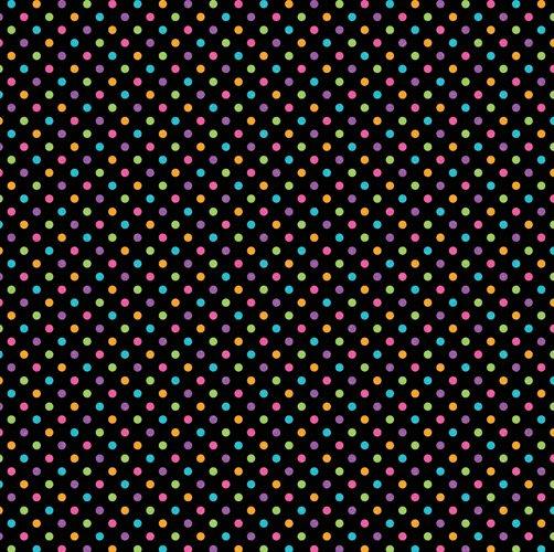 DOT SUGAR COATED - Black Rainbow Dot