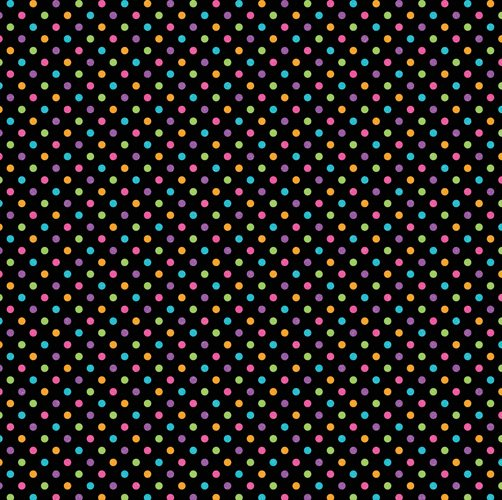 DOT SUGAR COATED - Black Rainbow Dot