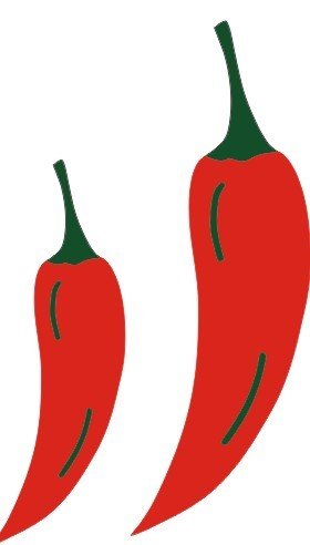 DIE CUT - Chili Peppers