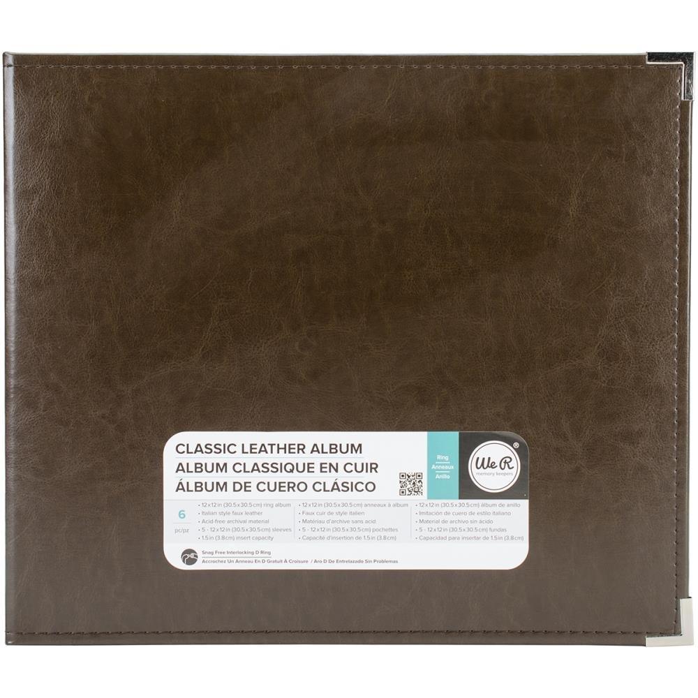 Classic Leather Ring 12X12 - Dark Chocolate