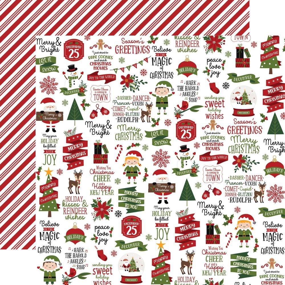 Echo Park (Double Sided 12x12) Christmas Magic Cheer