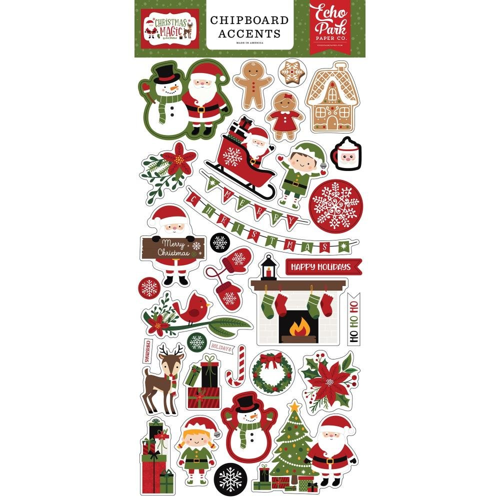 Echo Park Christmas Magic Chipboard Accents
