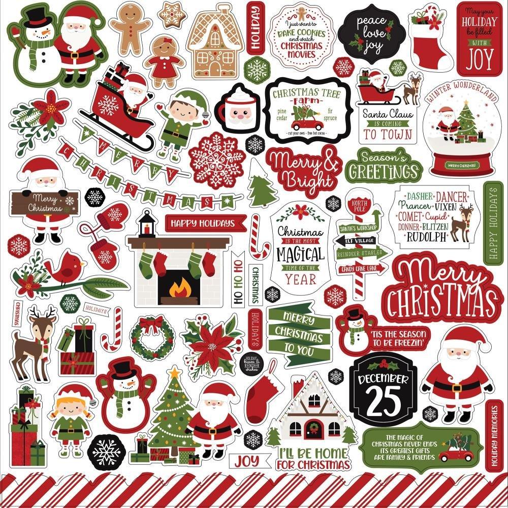 Echo Park 12x12 Christmas Magic Sticker Elements