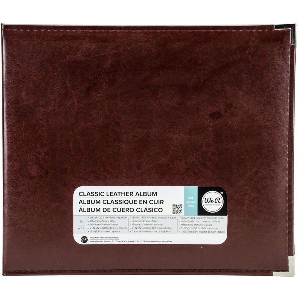 Classic Leather Ring 12X12 - Cinamon