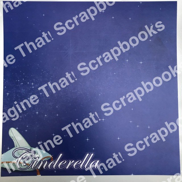 CUSTOM Paper - Cinderella Title with Slipper