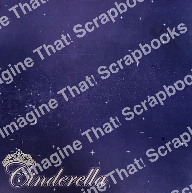 CUSTOM Paper - Cinderella Title with Crown