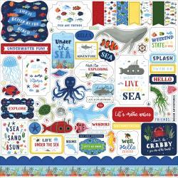 Echo Park Under Sea Adventures  12 x 12 Element Sticker