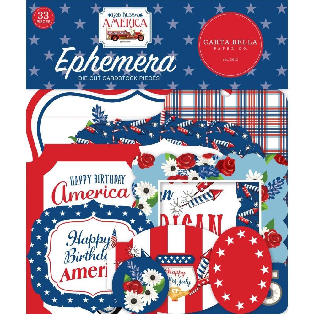 Carta Bella God Bless America Ephemera