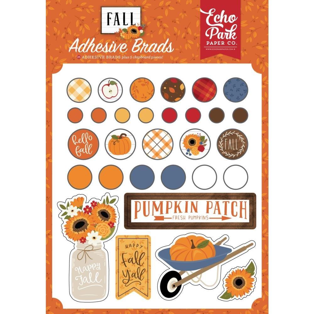 Echo Park Fall Adhesive Brads