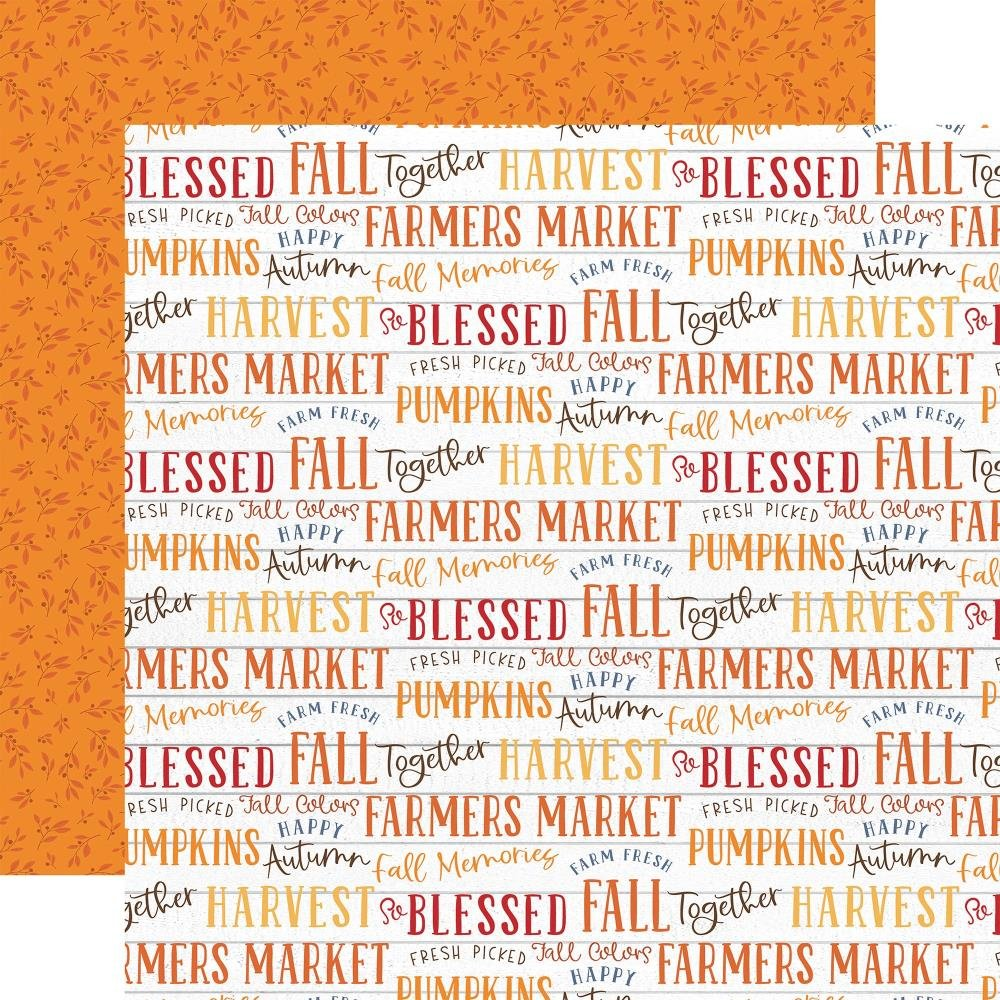 Echo Park (Double Sided 12x12) Fall Phrases