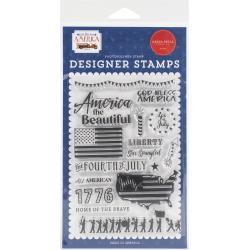 Carta Bella God Bless America Acrylic Stamp Set