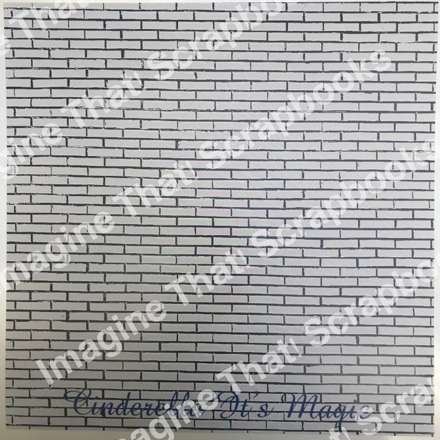CUSTOM Paper - Cinderella It's Magic Gray Brick
