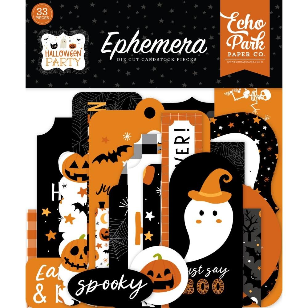 Echo Park Halloween Party Ephemera Bits & Pieces