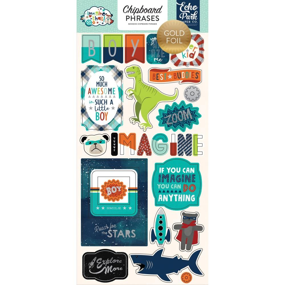 IMAGINE THAT! BOY - Chipboard Accent Phrases