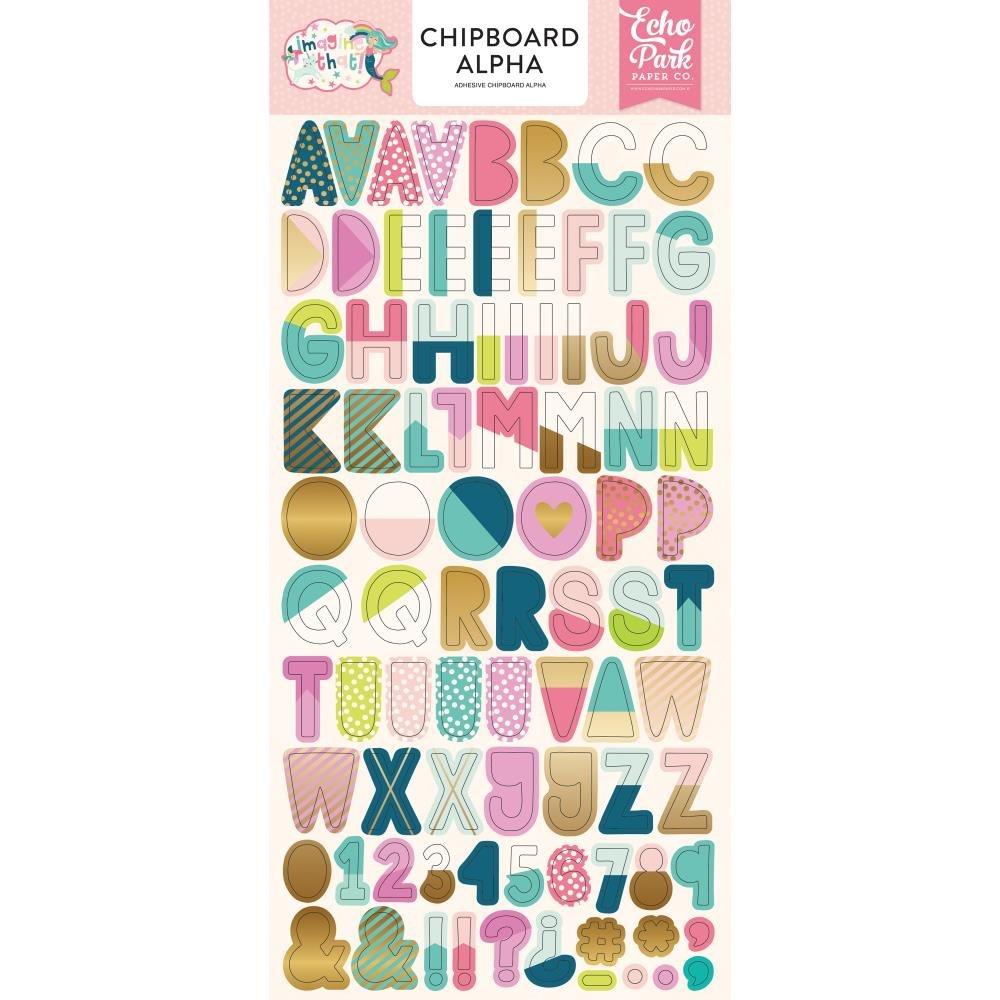 IMAGINE THAT! GIRL - Chipboard Alphabets