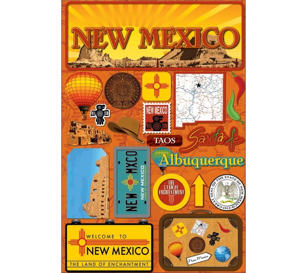 3D Stickers - New Mexico