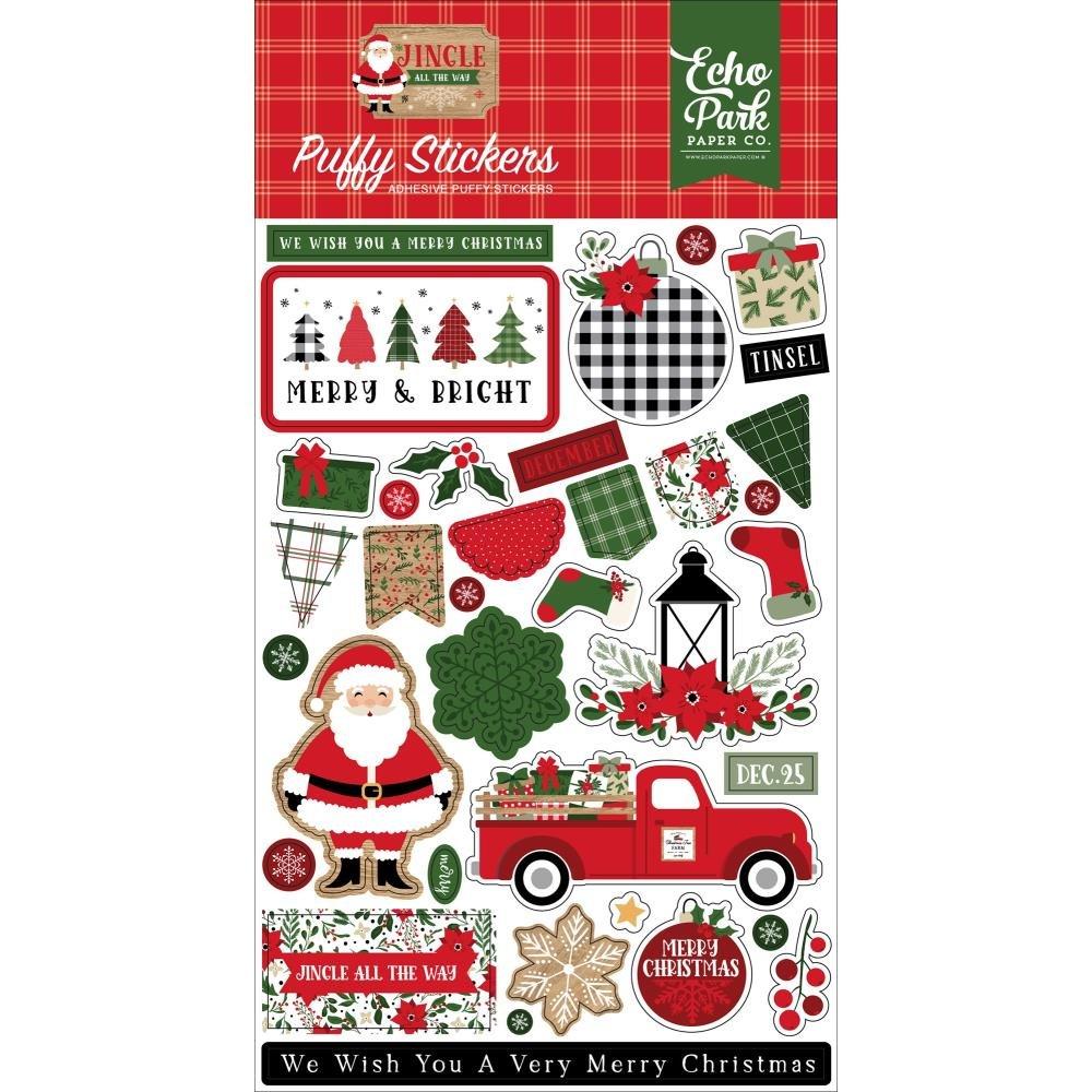 Echo Park Jingle All The Way Puffy Sticker