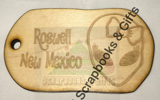 Luggage Tags - Roswell Bow Alien