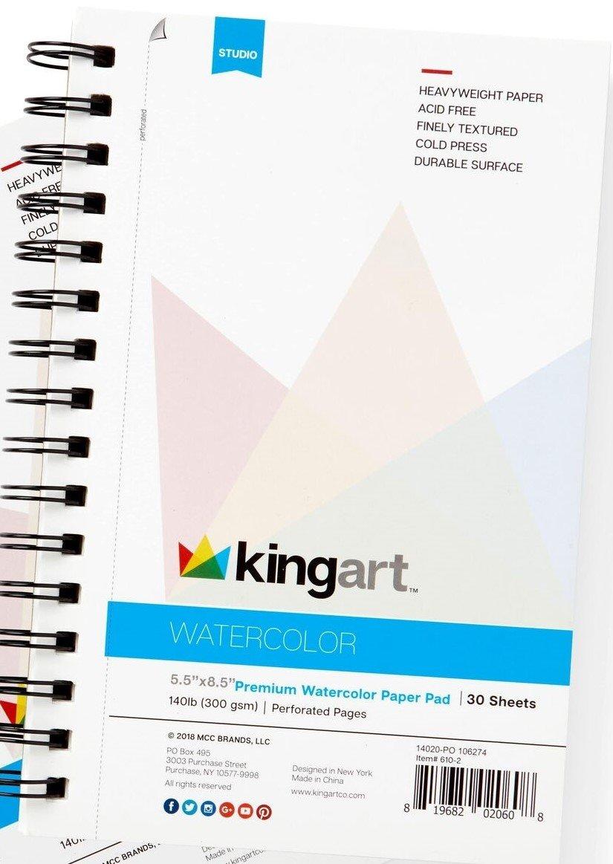KingArt Premium Watercolor Paper Pad