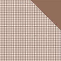 MICRO BASICS - Milk Chocolate Brown Check
