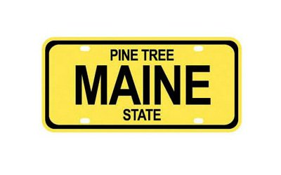 STATE PLATE - MAINE