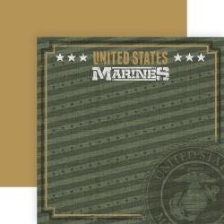 12X12 Double Sided Marines Officially Licensed