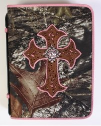 NOCONA - Bible Cover Camo Pink with Cross