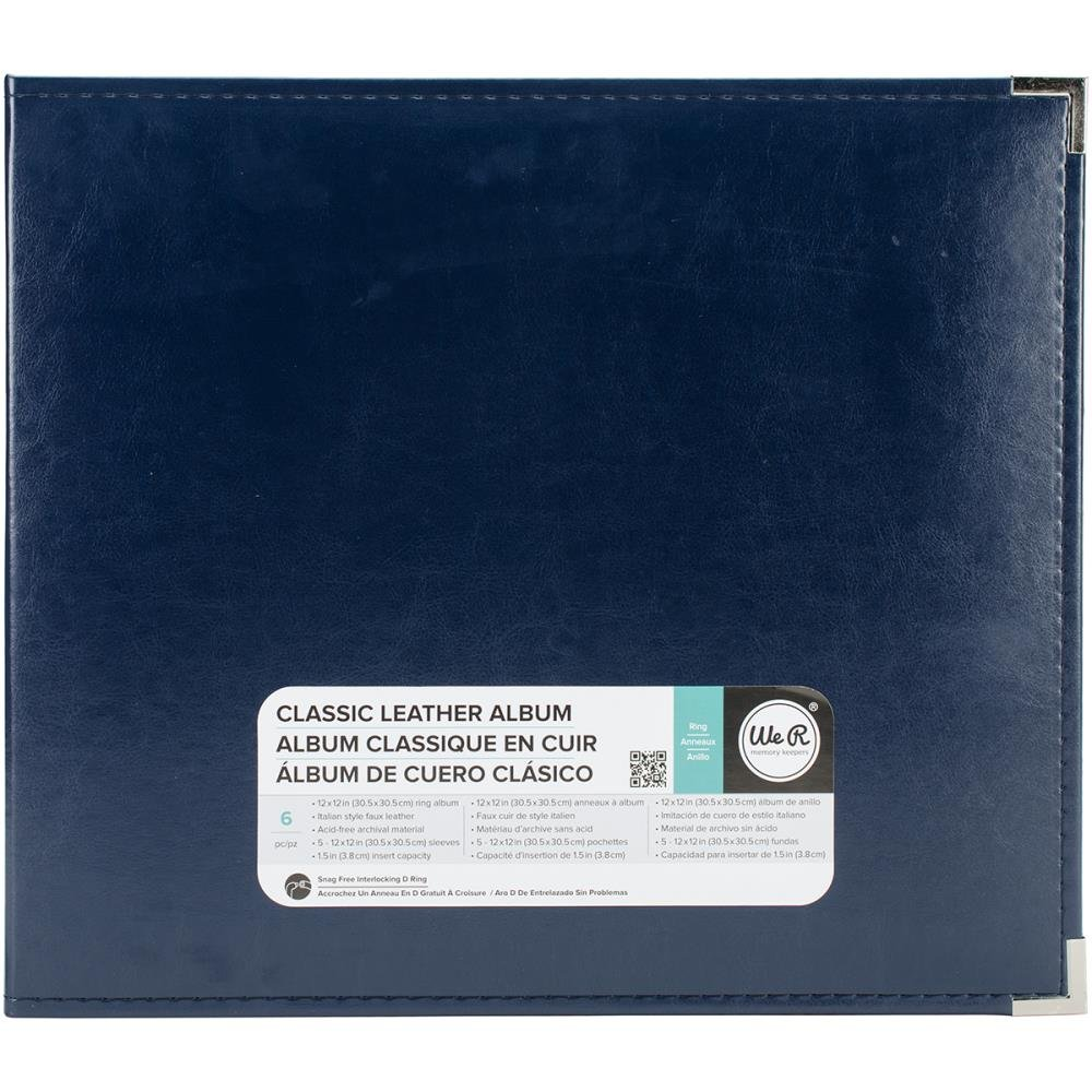 Classic Leather Ring 12X12 - Navy