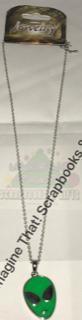 Necklace - Alien Head Silver Chain