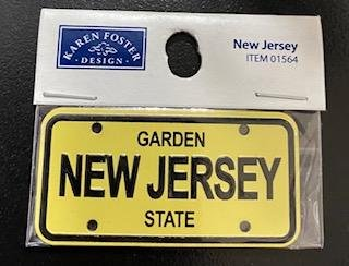 STATE PLATE - NEW JERSEY