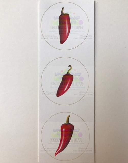 CUSTOM STICKER - Chile Peppers