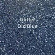 Vinyl - Heat Transfer - Glitter - Old Blue 12 x 20
