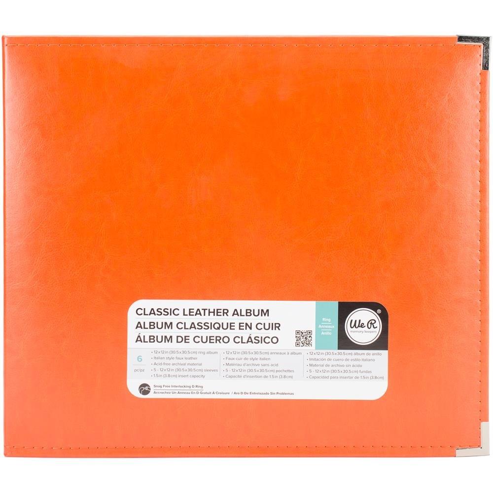 Classic Leather Ring 12X12 - Orange Soda