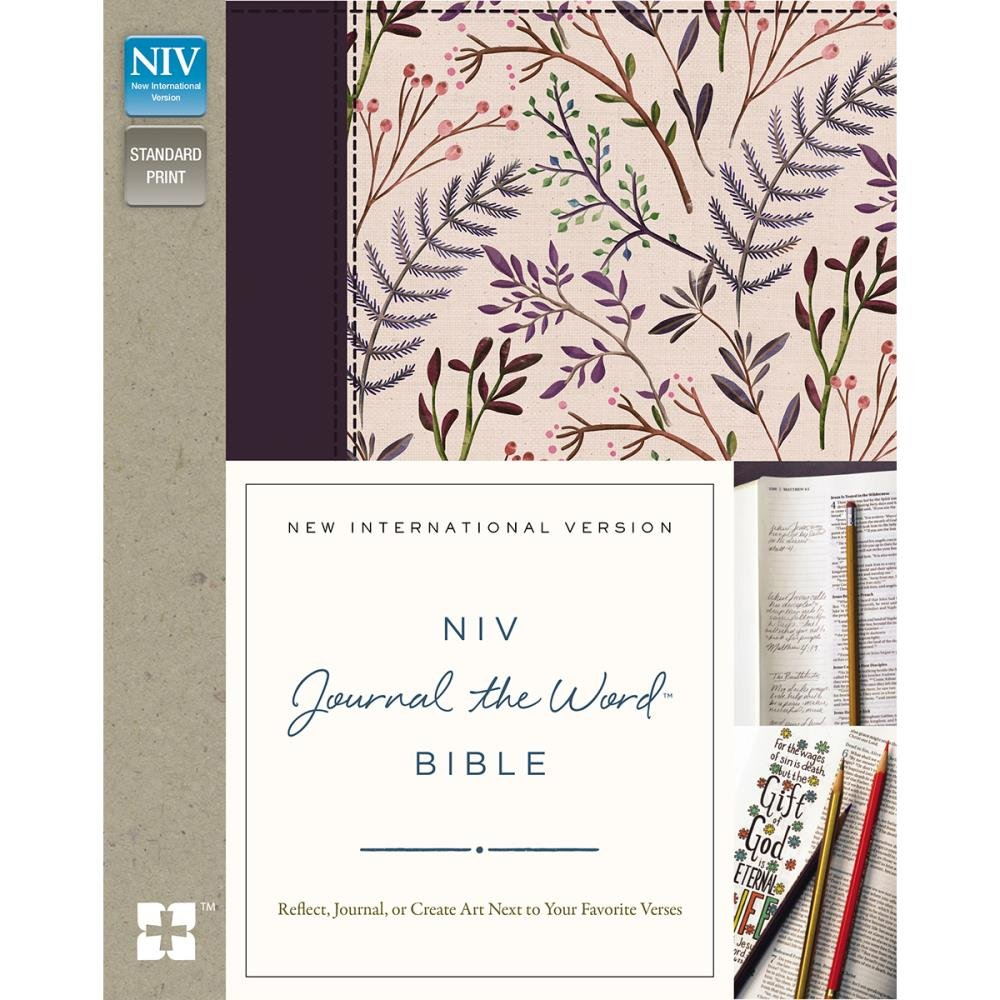 BIBLE JOURNALING - NIV Holy Bible For Girl Pink Floral Cloth