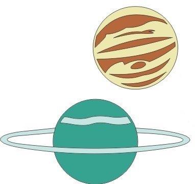 Planets - 2 pcs