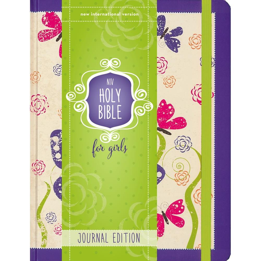 BIBLE JOURNALING - NIV Holy Bible For Girl Purple