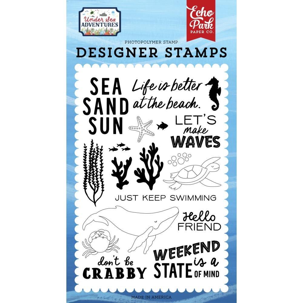 Echo Park Under Sea Adventures  Acrylic Stamp Set