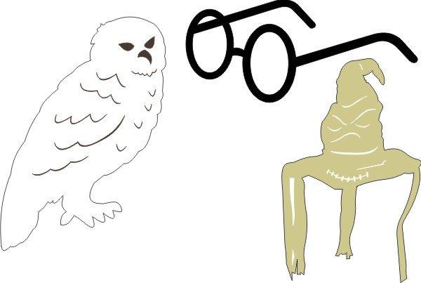 HARRY POTTER - Owl, Glasses, Sorting Hat