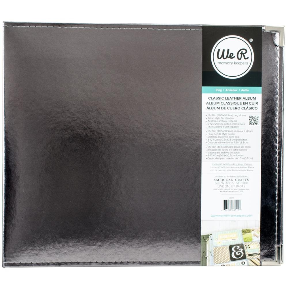 Classic Leather Ring 12X12 - Silver