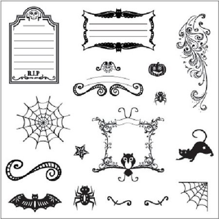 CLEAR STAMPS - Spooky Frightful