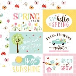 12 x 12 Double Sided Paper - Welcome Spring