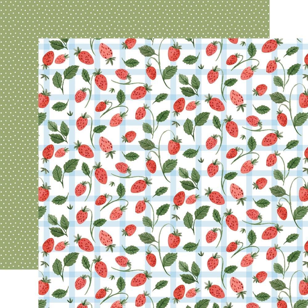Carta Bella Summer Strawberries (Double Sided 12x12)