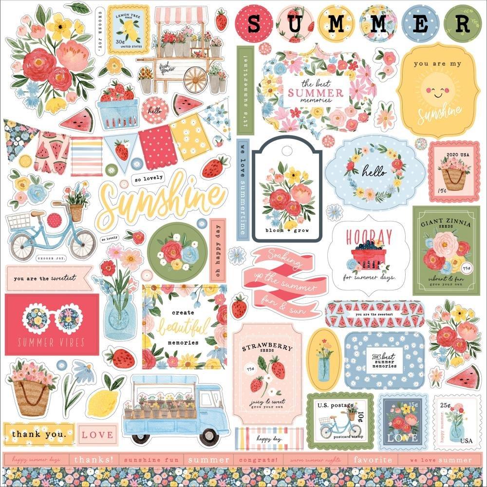 Carta Bella Summer Element Sticker 12 x 12